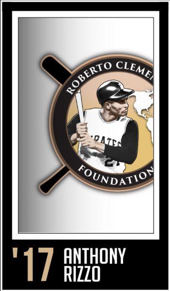 Anthony Rizzo - Roberto Clemente Award Winner
