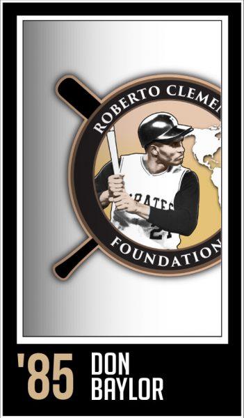 Don Baylor - Roberto Clemente Award Winner