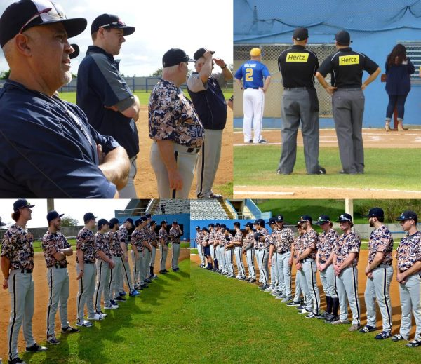 We lined the first and third base-paths for the Opening Ceremony in Aguadilla, Puerto Rico.  (Photos by Fred Saburro)