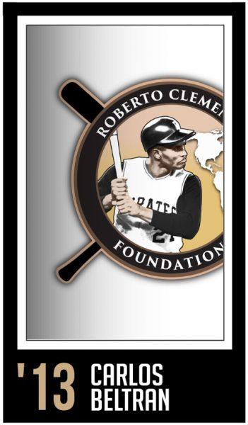 Carlos Beltran - Roberto Clemente Award Winner